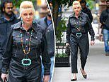 Ivana Trump, 72, rocks denim jumpsuit with VERY vibrant jewelry for solo New York outing