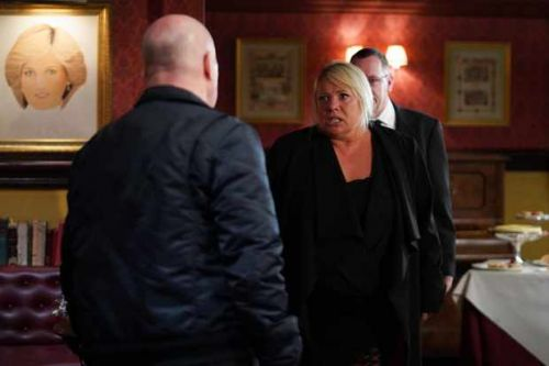 EastEnders first look pictures: Sharon attacks Phil as Denny is laid to rest
