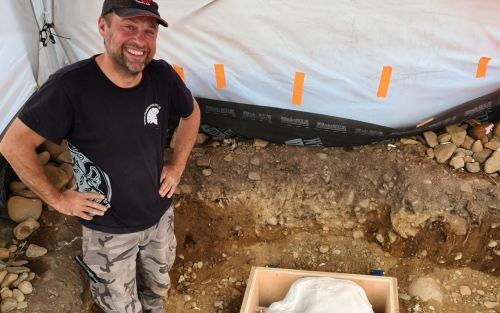 Metal detectorist unearths a Bronze Age sword and horse harness in the Scottish borders