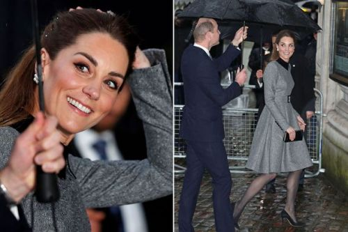 Kate Middleton and Prince William arrive to pay respects at Holocaust Memorial