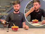 Jack Whitehall pours Bailey's over his cereal in his latest TikTok clip