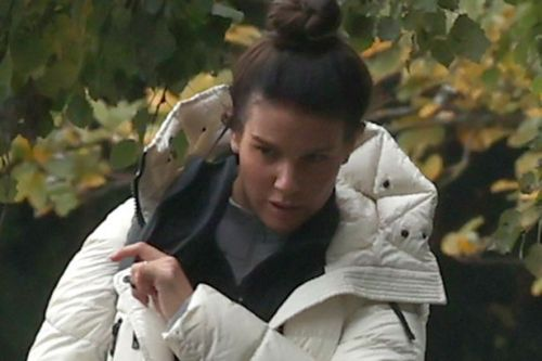 Rebekah Vardy looks deep in thought as she leaves Dancing On Ice training