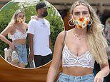 Perrie Edwards cosies up to beau Alex Oxlade-Chamberlain in Ibiza