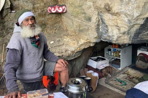 Millionaires attempt to evict homeless man who has lived in cave during pandemic