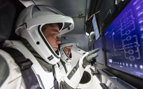 Watch the astronauts give a tour of their new Crew Dragon spacecraft