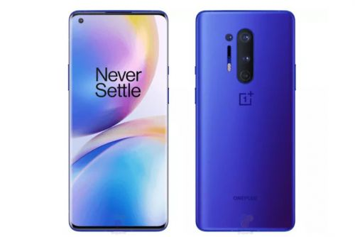 This is what the OnePlus 8 Pro looks like in a flashy 'ultramarine blue' shade