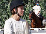 Olivia Wilde looks good in patterned top and jodhpurs as she enjoys horseback riding session in LA