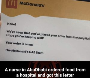 A Tiny Gesture By McDonald's To A Hospital In Abu Dhabi Is Actually Super Thoughtful