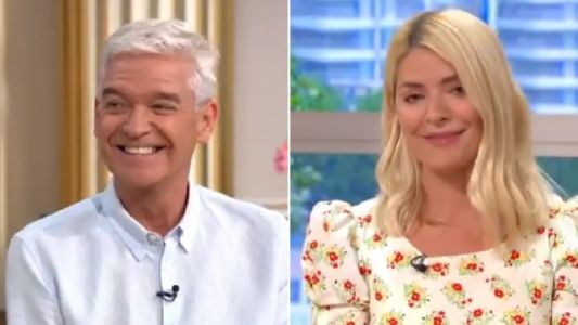 Phillip Schofield leaves Holly Willoughby red-faced during Rupert Penry-Jones interview: 'The restraining order is still in place'