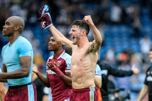 Scenes in West Ham dressing room after Michail Antonio wins it late at Leeds United