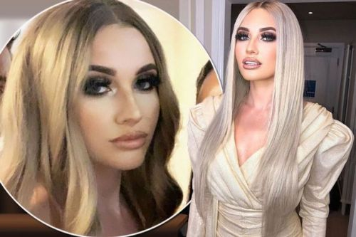 Amy Hart looks nothing like herself as she styles long luscious hair extensions