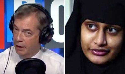 Shemima Begum: 'We have been INCREDIBLY STUPID!' Farage says to follow Trump's example