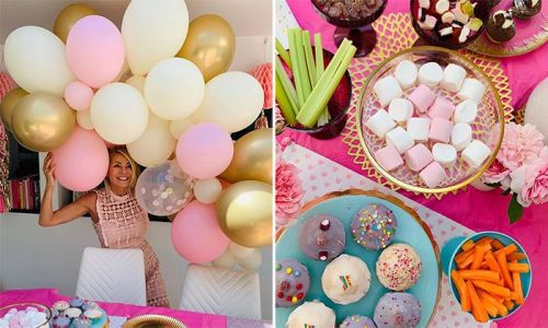 Tess Daly bakes mouth-watering cupcakes for daughter Amber's pink-themed birthday party