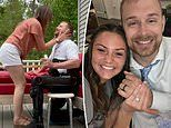 Paralyzed man uses a robotic exoskeleton to get down on one knee and propose to his girlfriend
