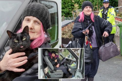 Hoarder evicted from her bungalow will live in van so she can care for her cats