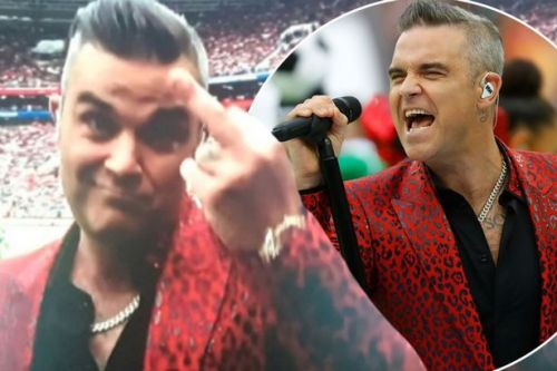 Robbie Williams turns World Cup Opening ceremony air blue as he triumphantly SWEARS at TV camera
