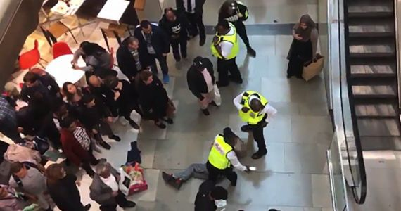 Woman crushed by man 'falling from top floor' at Westfield in Stratford