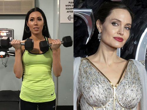 I worked out like Angelina Jolie for a week, and it was tough but I want to steal her workout