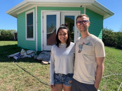Minimalist couple ditch their belongings to move into a bungalow on wheels and start their own tiny house community