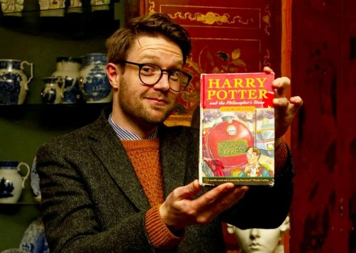 Harry Potter first edition 'that was found in skip' sells for £33,000 at auction