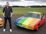 Revamped Top Gear team spray-paint the LGBT rainbow flag on cars used for filming in Brunei
