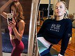 Kyly Clarke shows off her incredible body in activewear as she promotes rival fashion label