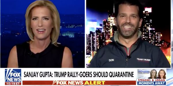 Donald Trump Jr said that COVID-19 deaths are down to 'almost nothing' as 1,000 new deaths recorded