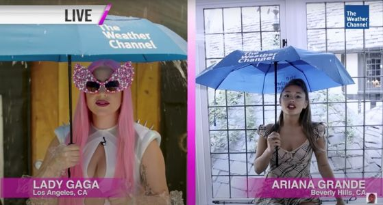 Watch Lady Gaga and Ariana Grande as the 'Chromatica Weather Girls'