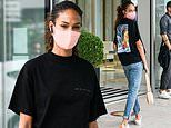 Joan Smalls nails off duty chic in a casual ensemble during Milan Fashion Week