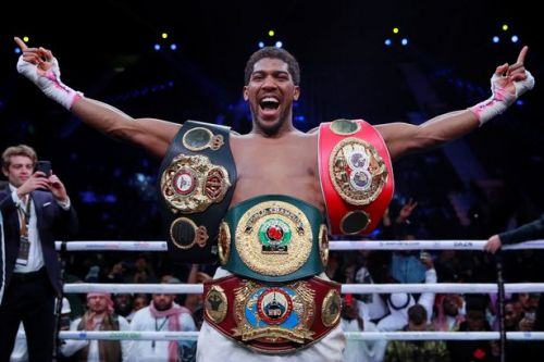 Anthony Joshua responds to demand to fight Oleksandr Usyk or give up belt