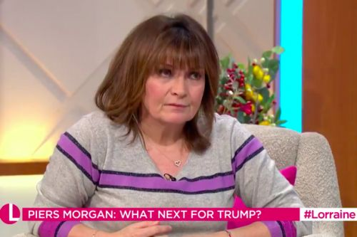 Lorraine Kelly '100% agrees' with Piers Morgan's calls to convict Donald Trump