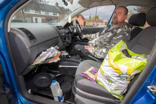 Council tenant sleeping in car because 'freezing bedroom is 3ins deep in water'