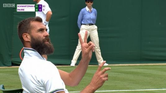 'You're wasting everybody's time' - Benoit Paire heckled by Wimbledon crowd during umpire row