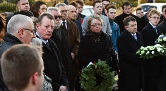 Sister challenges Sinn Fein 'hypocrites' as murdered politician is remembered