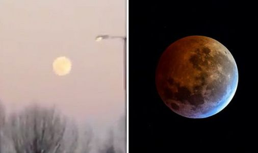 Eclipse 2019: Dazzling video shows rare Super Blood Wolf Moon arrive in Britain