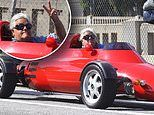 Jay Leno gets heads turning as he takes a Memorial Day cruise in his flashy lightweight car