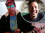 Adam Sandler debuts his new quarantine song during The Tonight Show At Home with Jimmy Fallon