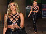 Love Island's Belle Hassan puts on a busty display in a racy criss-cross bralette