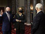 Astronaut Mark Kelly is sworn in as Arizona senator with wife Gabby Giffords at his side