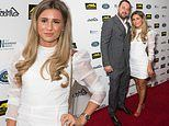 Dani Dyer stuns in white mini dress as she and father Danny attend star-studded London charity do