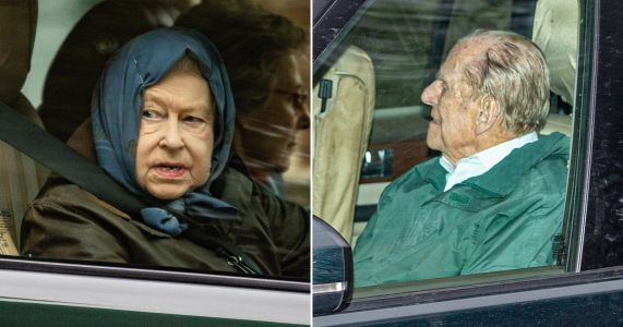 Queen and Prince Philip spotted for first time since Harry left for Canada