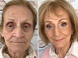 Makeup artist Julia Stronach, 33, creates age-defying transformation for her aunt Sandra