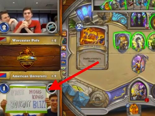 Blizzard bans 3 more 'Hearthstone' players for holding up pro-Hong Kong protest signs during a livestream