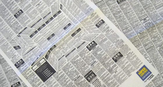 Genius Newspaper Ad Hides A 3D Kitchen In The Classifieds