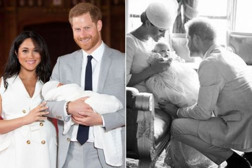Adorable new photo of Archie's christening to celebrate dad Harry's 35th