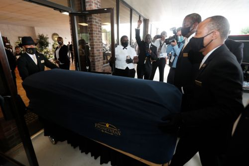 George Floyd casket arrives in North Carolina hometown as thousands expected to mourn at second memorial service