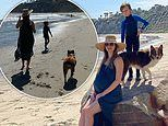Matt Bellamy shares snap of pregnant wife Elle with his son Bingham ahead of daughter's birth