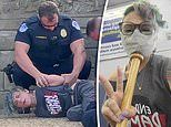 Woman swinging baseball bat and screaming 'Defund the Police' arrested outside Capitol amid protests