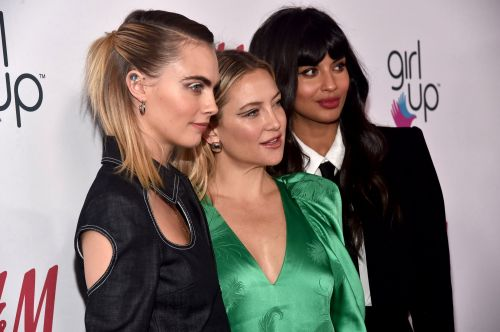 Cara Delevingne spots a fashion opportunity in bold jumpsuit at GirlHero Awards