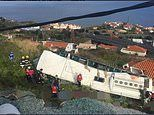 'Several people are killed' as tourist bus overturns on Madeira